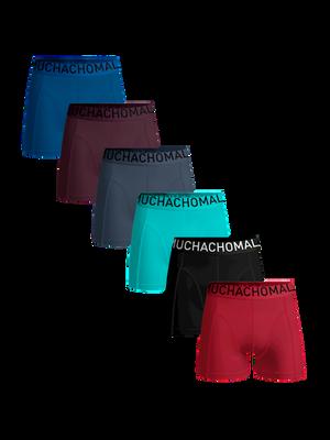 Men 6-pack boxer shorts solid