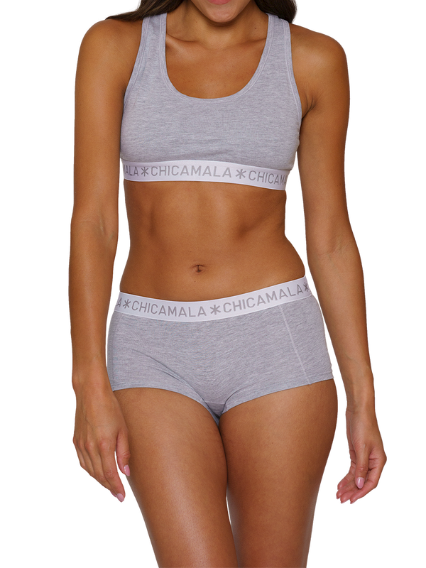 Women 2-pack Boxershort Solid 2