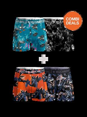 Men 2-pack + 2-pack boxer shorts It Tastes Good + Gadgets