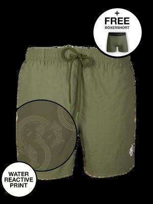 Boys swimshorts solid + print