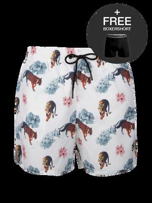 Jongens 1-pack swimshort Tiger