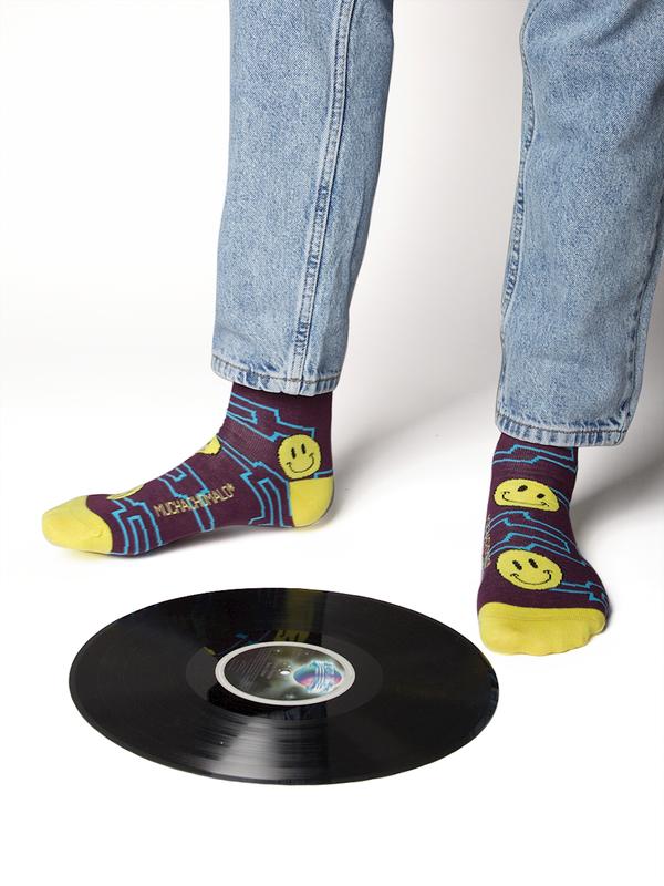 Men 1-pack socks Pattern ACIDH 3