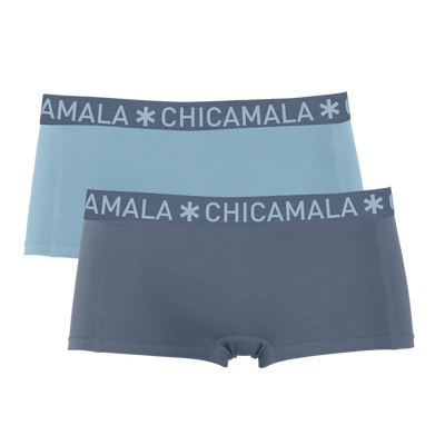 Girls 2-pack Boxer Shorts Solid