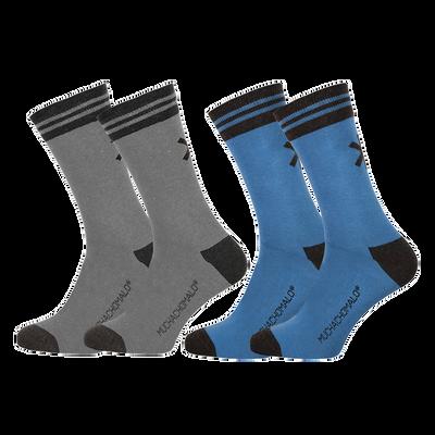 Men 2-pack socks solid