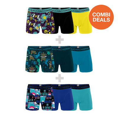 3 x Heren 3-pack Boxershorts Melty + Plastic + Endboss
