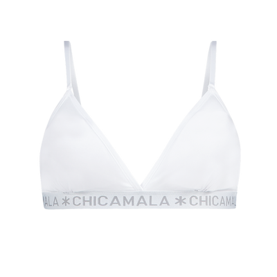 Dames 1-pack triangle top effen