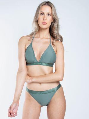 Women triangle bikini solid