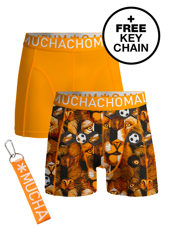 Men 2-pack shorts Football incl keychain