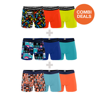 3 x Heren 3-pack Boxershorts Social + Break + Endboss