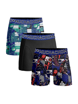 Heren 3-pack boxershorts Social Media