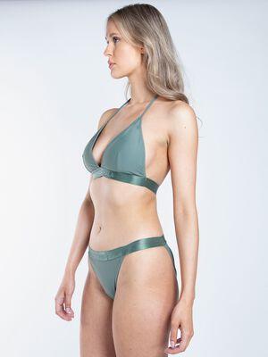 Ladies triangle bikini solid 2