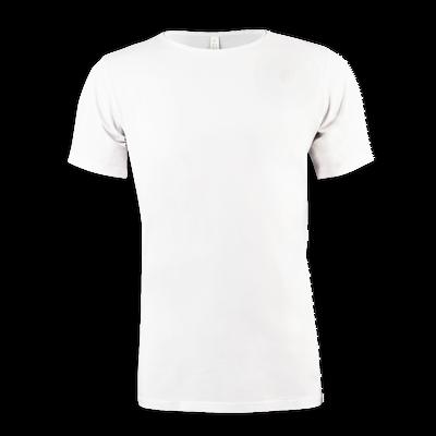 Heren Bamboo T-shirt Round Neck wit