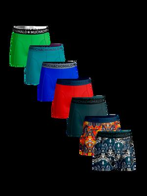 Heren 7-pack boxershorts Jaguar + effen