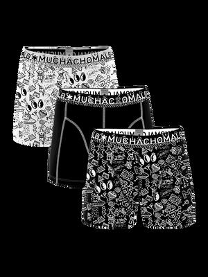 Heren 3-pack boxershorts Iconic Art
