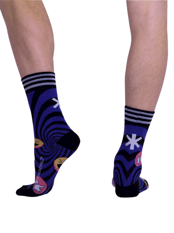 Men 1-pack socks Pattern SOCME 3