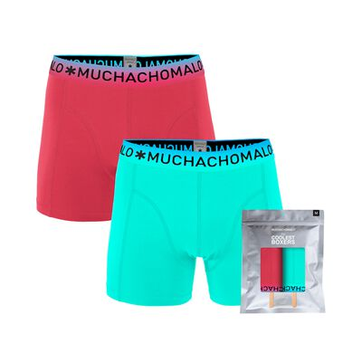 Heren Lolly 2-pack Boxershorts Microfiber Effen