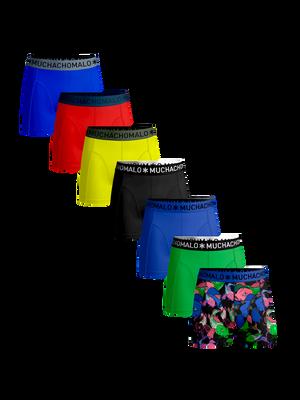 Heren 7-pack boxershorts Koi + effen